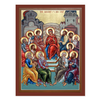 Descent of the Holy Spirit(Pentecost) Prayer Card Postcard