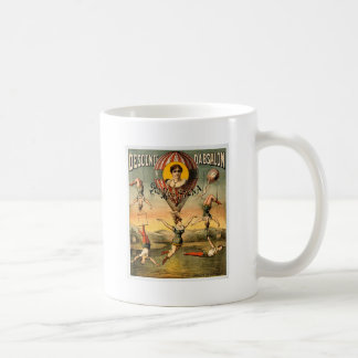 Descente d'Absalon par Miss Stena Vintage Circus Basic White Mug