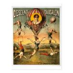 Descente d'Absalon par Miss Stena Vintage Circus Postcard