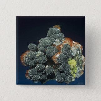 Descloizite on Calcite 15 Cm Square Badge