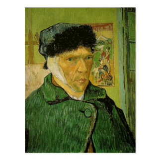 Description: A self-portrait by Vincent van Gogh w Postcard