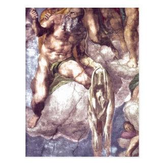 Description Detail of Michelangelo Sistine Chapel  Postcard