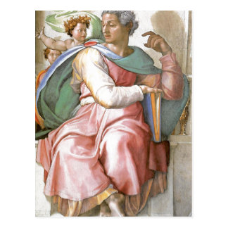 Description fresco painted by Michelangelo and his Postcard