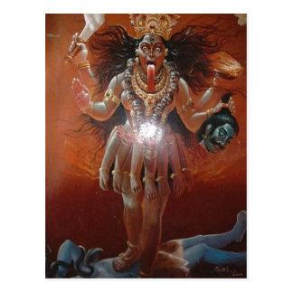 Description Hindu goddess Kali. Photo of a ~17th c Postcard