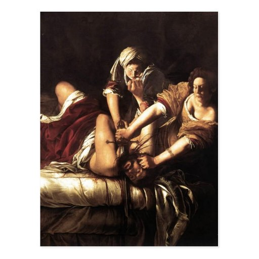 Description Judith Beheading Holofernes , Oil on c Post Cards