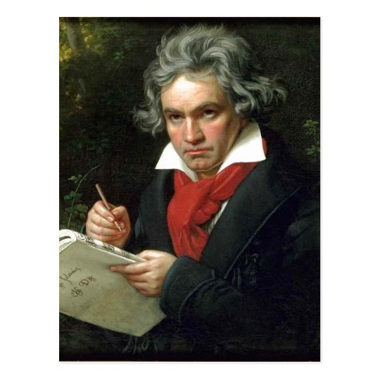 Description Ludwig van Beethoven (17701827) auf ei Postcard