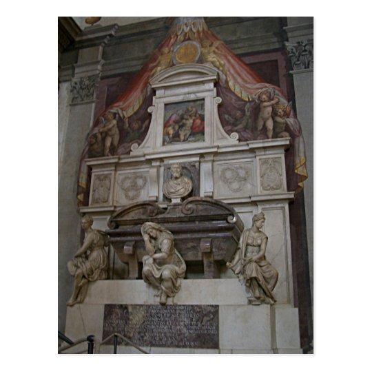 Description Michelangelo's tomb in Basilica di San Postcard