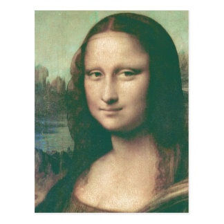 Description Mona Lisa Image has been modified for  Postcard