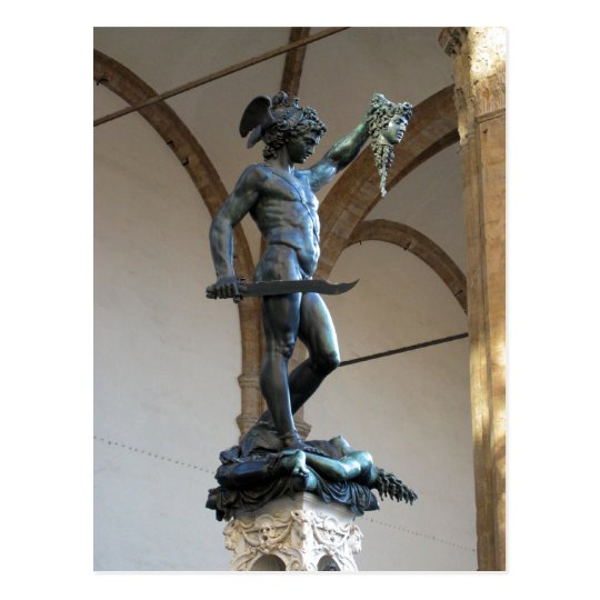 Description Statue of Perseus, Piazza della Signor Postcard