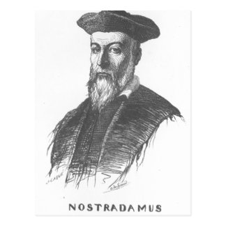 Description - The portrait of Nostradamus, drawn b Postcard