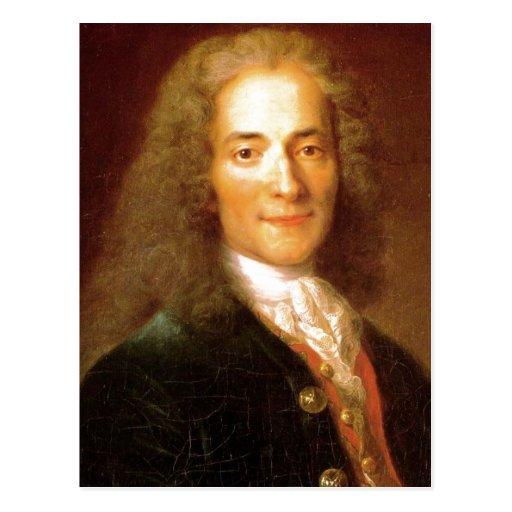 Description Voltaire en 1718 . Portrait of Voltair Post Card