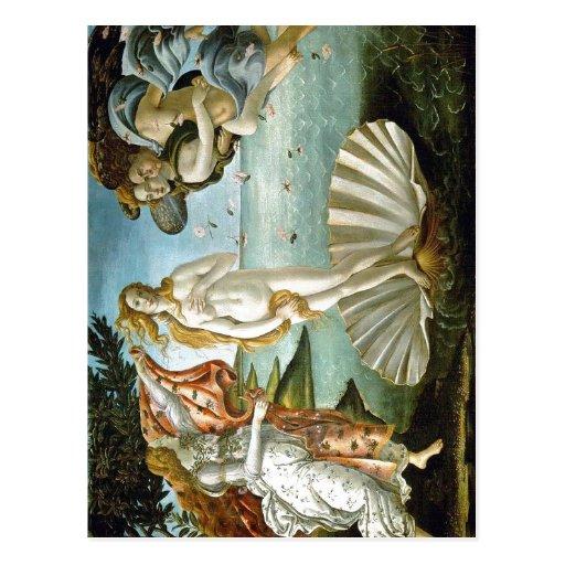 Description w:Botticelli The Birth of Venus Date c Postcards