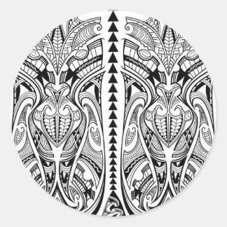 desenho-tatuagem-maori03.jpg round sticker