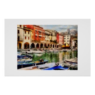Desenzano - old harbour poster