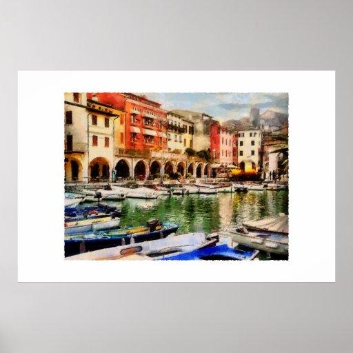 Desenzano - old harbour print
