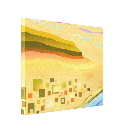 desert abstract art slim depth canvas print