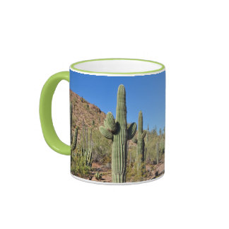 Desert and cactus print coffee mug