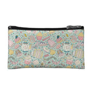 Desert and Coffee Pattern Cosmetic Bag