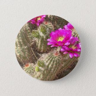 Desert bloom 6 cm round badge