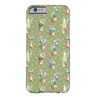Desert Bloom Step   Green Pattern Barely There iPhone 6 Case