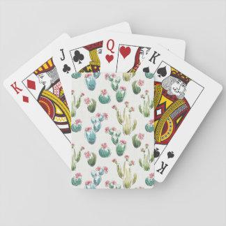 Desert Bloom Step | Pink Pattern Playing Cards