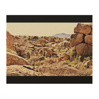Desert Boulders on Wood Wall Art. Wood Wall Decor