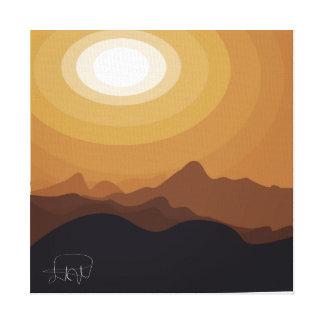 desert brown abstract canvas print