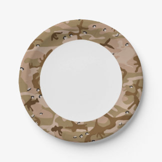 Desert Brown Camouflage. Camo your 7 Inch Paper Plate