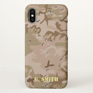 Desert Brown Camouflage. Camo your iPhone X Case