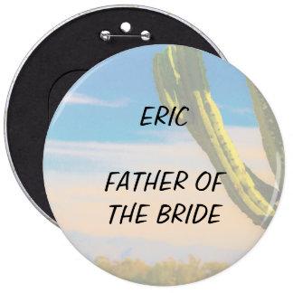 Desert Cactus Blue Sky Father of the Bride 6 Cm Round Badge