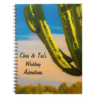 Desert Cactus Blue Sky Wedding Journal