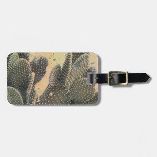 Desert Cactus | Green Splatter Luggage Tag