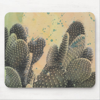 Desert Cactus | Green Splatter Mouse Pad