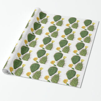Desert Cactus Plant Pattern Vintage Wrapping Paper