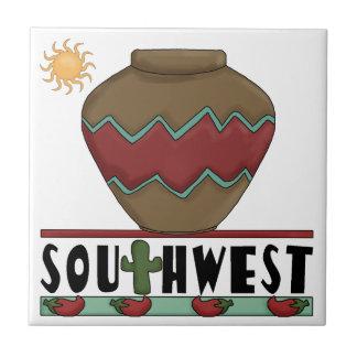 Desert Cactus Red Chilis Pottery - Southwest Tiles