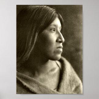 Desert Cahuilla woman Poster