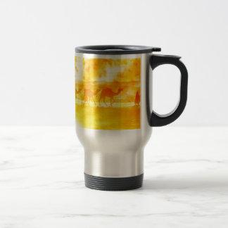 Desert Camel Caravan Sunburst Aluminum Travel Mug