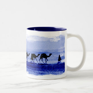 Desert Camel Caravan Sunburst Ceramic Mug