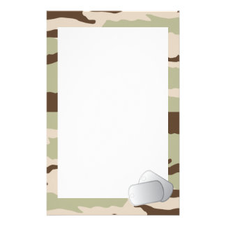 Desert Camo and Dog Tags Stationery