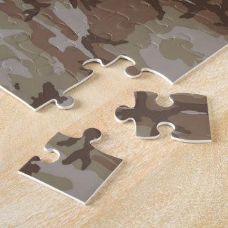 Desert Camo Heart on Camouflage Jigsaw Puzzle