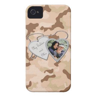 Desert Camo My Soldier & Me Hearts Custom Photo Bl Case-Mate iPhone 4 Case