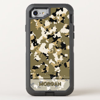 Desert Camo Name Template OtterBox Defender iPhone 8/7 Case