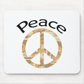 Desert Camo Peace & Word Mouse Pad