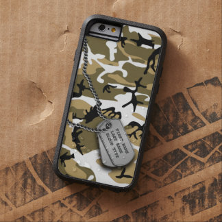 Desert Camo w/ Dog Tag Tough Xtreme iPhone 6 Case