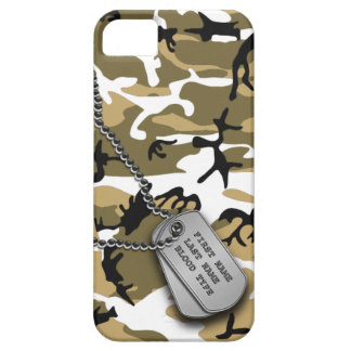 Desert Camo w/ Dog Tags iPhone 5 Covers