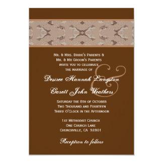 "Desert Camo Wedding Monogram V03 5"" X 7"" Invitation Card"