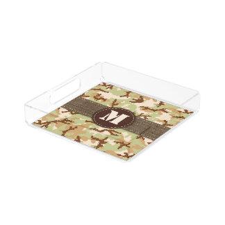 Desert camouflage acrylic tray