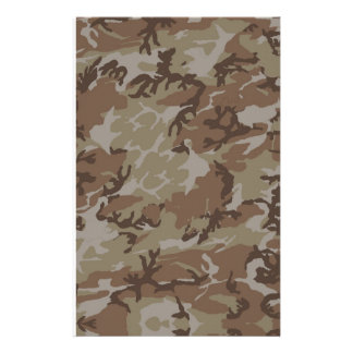 Desert Camouflage Background Stationery Paper
