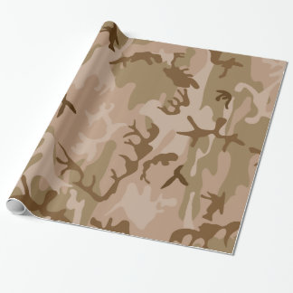 Desert camouflage design wrapping paper