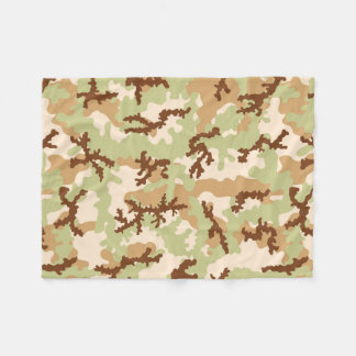 Desert camouflage fleece blanket